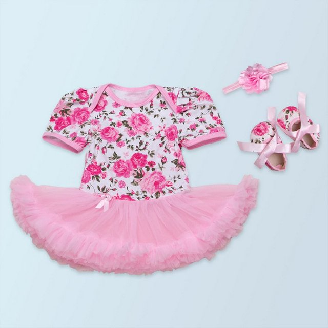 Conjuntos de Roupas de Bebe Bebê recém-nascido da Menina Festa de Aniversário Da Princesa Floral Conjunto De 3 Boutique de Moda Bebê Roupas Para 0-2A