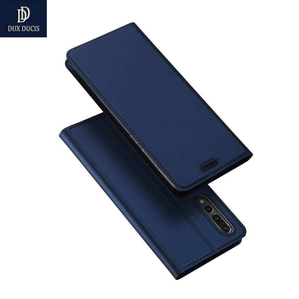DUX DUCIS Marque Cas Pour Huawei P20 Pro Cas De Luxe De Luxe PU Béquille en cuir Flip Couverture Pour Huawei P20 P 20 Pro Téléphone Cas