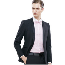 Simple stylish men's wedding tuxedos suits new style men suits black slim fit groom party dress suits(jacket+pants)