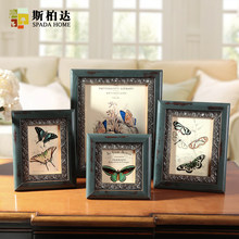 Wooden Photo Frame European Style Picture Frame Table 1Pcs/Lot Creative Home Decor Hanging On Wall Phase Framework 4/6/7/10 Inch(China)