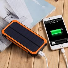 PowerGreen 15000mAh Solar Power Bank External Battery Charger Pack Outdoor Backup Charger Solar Charger with 6LED Flashlight
