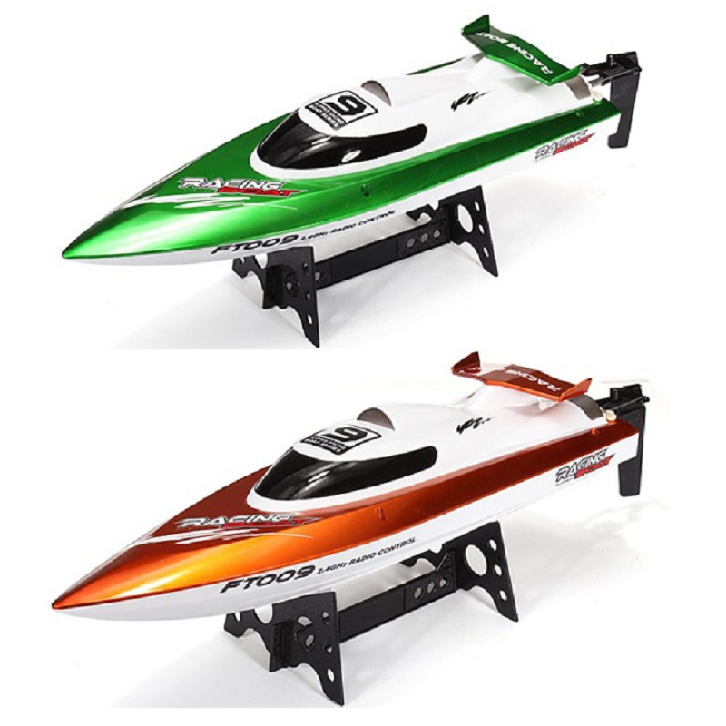 Feilun FT009 2.4G 4CH RC Racing Boat Water Cooling System Self-righting 30km/h High Speed 360 Degree Flips aluminum water cool flange fits 26 29cc qj zenoah rcmk cy gas engine for rc boat