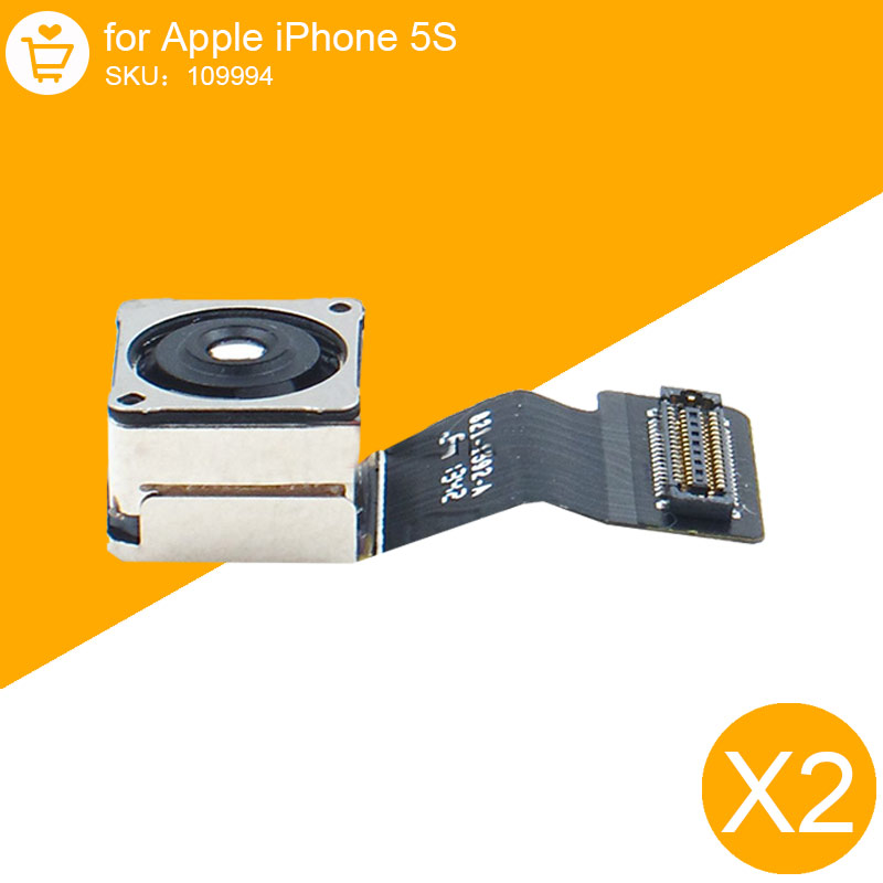 2 Pcs Lot Original 8.0 Mega Pixels Back Rear Camera Flex Cable For iPhone 5S with Flash Module Ribbon Repair Replacement Parts