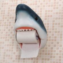 Креативная индивидуальная тканевая коробка для ванной комнаты, бумажная вешалка для полотенец, Акула, предметы домашнего обихода, рулонный бумажный держатель для ванной комнаты, водонепроницаемая тканевая коробка