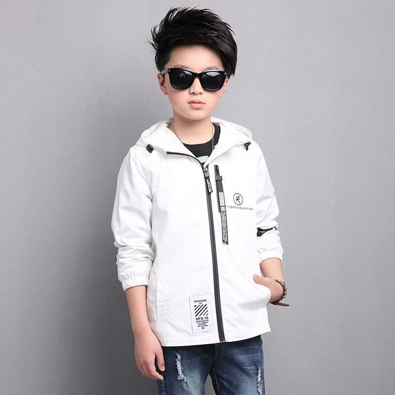 Горячие Повседневное модная одежда с длинными рукавами куртка с капюшоном для мальчиков хлопок корейский стиль краткое сплошной Детская к...