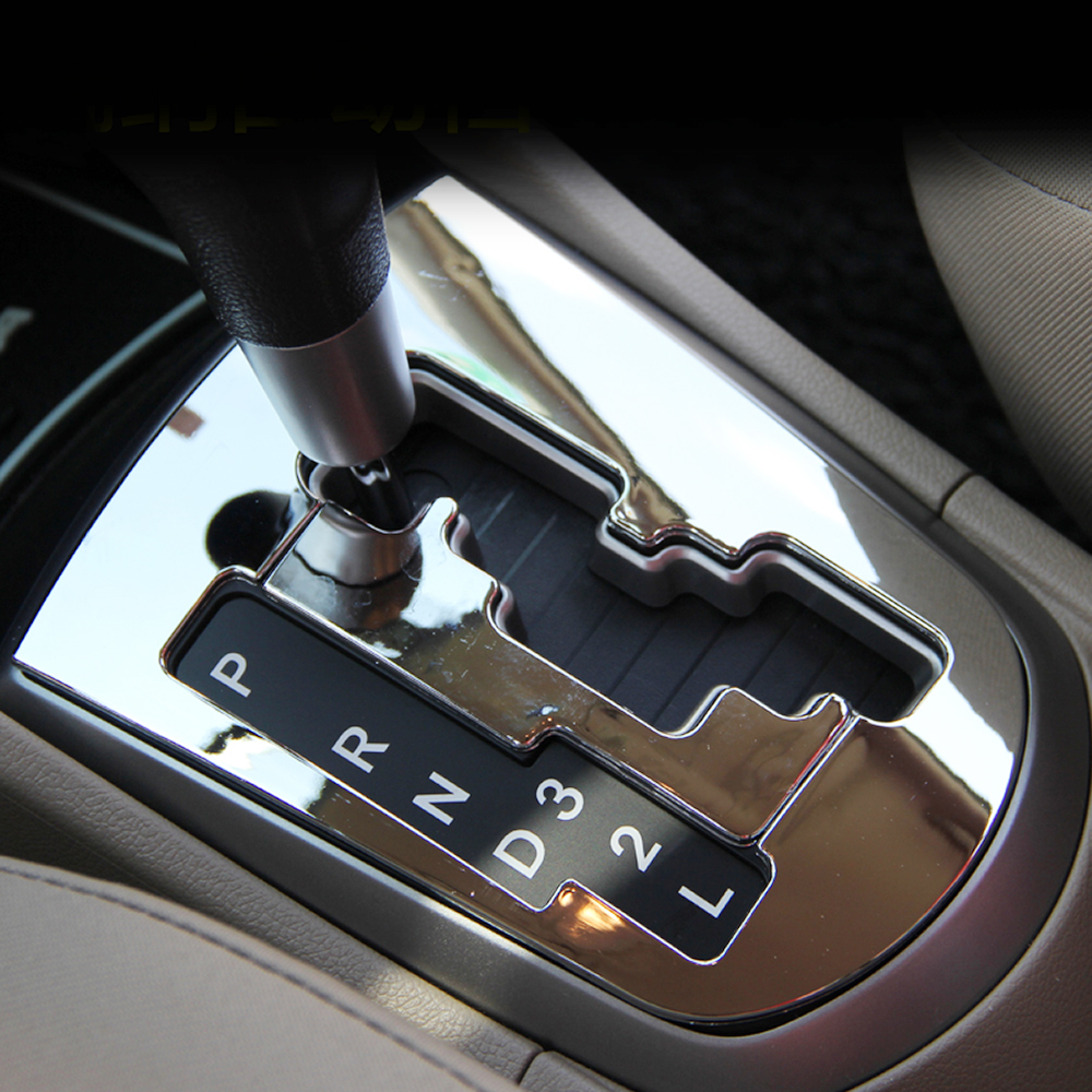 Image 1 - 2015 New Design ABS chrome trim gear box decoration ring circle cover For Hyundai Solaris accent sedan hatchback 2011 2015-in Car Stickers from Automobiles & Motorcycles