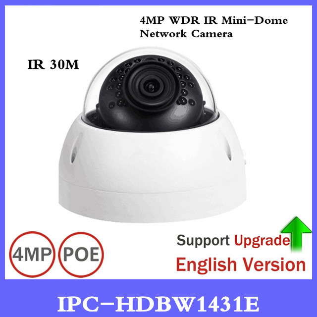 DH IP Camera IPC-HDBW1431E 4MP Network IP Camera Support IK10 IP67 Waterproof with POE IR Range 30m Mini Dome Camera dahua 4mp cctv ip camera ipc hdbw4433r as support ik10 ip67 audio and alarm poe camera with ir range 30m