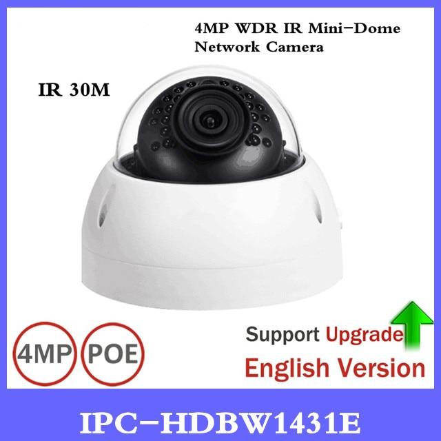 DH IP Camera IPC-HDBW1431E 4MP Network IP Camera Support IK10 IP67 Waterproof with POE IR Range 30m Mini Dome Camera dahua 4mp cctv ip camera ipc hdbw4433r as support ik10 ip67 audio and alarm poe camera with ir range 30m