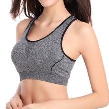 Women Tracksuit Sexy Lingerie Lady's Underwear Solid Wear Fitness Stretch Quick Dry Tank Top Seamless Racerback Bra