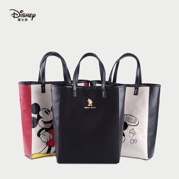 2019 Disney Printing Mickey Beige/Black/Red Multifunction Mummy Tote Outdoor Shopping Large Capacity Baby Handbag Shopping Bag