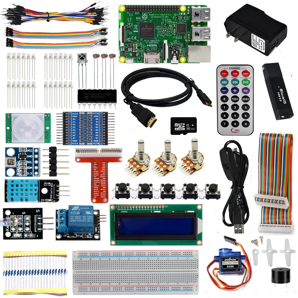 OSOYOO The Lastest Raspberry Pi 3 Complete Starter Kit with RPi3 Model B Board 26 items