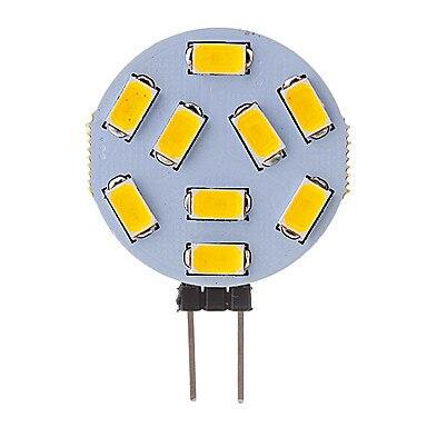HRSOD 10X G4 1.5W 9x5730SMD 120-150LM 2800-3000K Warm White Cold White Light LED Spot Bulb (12V) Reading Led Car Led G4 Led