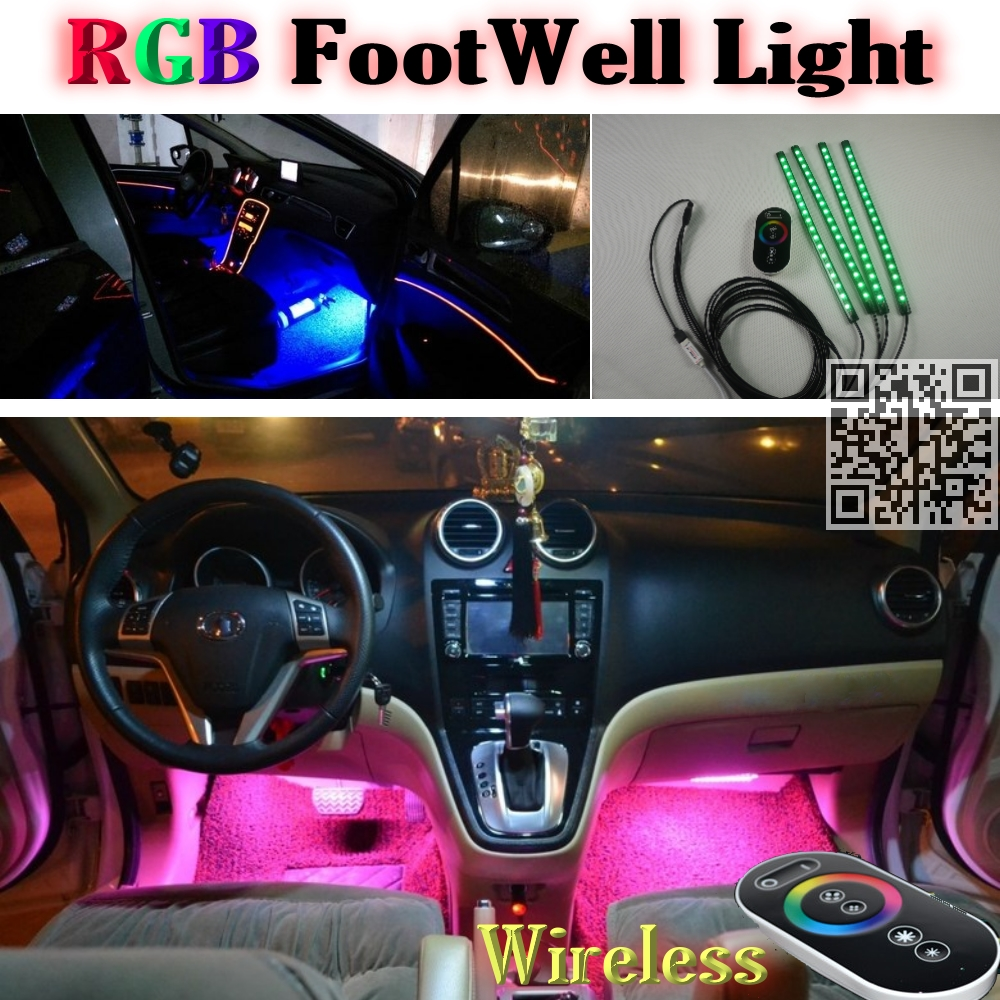 2.4G Wireless Control 360 RGB Color Neon Glow Interior UnderDash Foot Accent Ambient Light For <font><b>Lexus</b></font> SC 300 400 430 1991~2010
