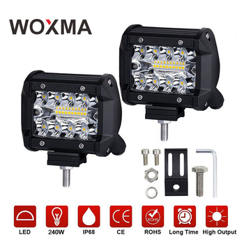 Woxma работы автомобиля светлая полоса 4x4 Offroad 4 дюйма 60 Вт мотоцикл 12 В 6000 К белый комбо супер яркий дальнего света для авто пикап ATV
