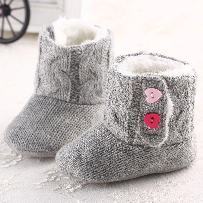 Newborn Winter Super Warm Girls Baby Prewalker Keep Warm Infant Toddler Princess Bebe Crib Snow Knitting Shoes