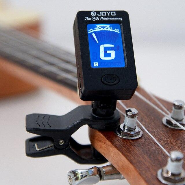 800 יחידות JOYO JT 01 רגיש מיני דיגיטלי LCD קליפ על טיונר עבור גיטרה בס כינור Ukulele Guitarra חלק אבזרים סיטונאי