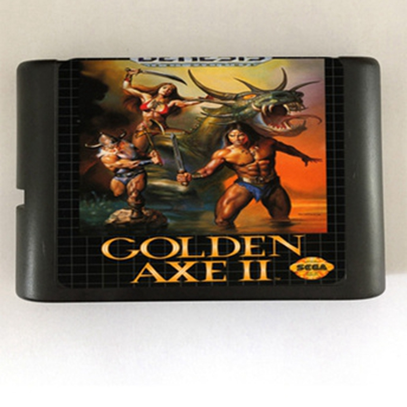 Golden Axe II 2 Game Cartridge Newest 16 bit Game Card For Sega Mega Drive / Genesis System mickey mouse castle of illusion