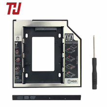 9.5mm SATA3 Interface 2.5 Inch Hard Drive Bracket SSD Adapter Optibay HDD Caddy DVD CD-ROM Enclosure Adapter Case for Laptop PC