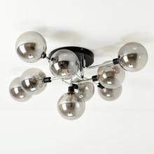 LED Ceiling Lamp Modern Glass Ball Light for Living Room Kitchen Bedroom Home Lighting Lustre Black Chrome Copper