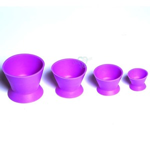 Image 3 - 4 pcs New Eco friendly Dental Lab Silicone Mixing Bowl Cup Silicone Mixing Bowl Cup Dental Medical Equipment Rubber Mixing Bowl