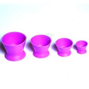 Image 3 - Tigela de mistura de silicone, 4 unidades, novo laboratório dental ecológico, tigela, copo, tigela de mistura, equipamentos médicos dentários de borracha, tigela de mistura