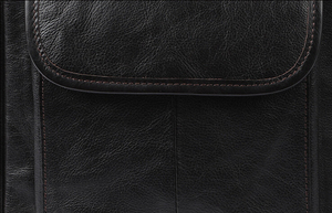 Image 5 - Real leather mens single shoulder/cross body bag top layer cowhide waxy leather mens bag.pinepoxp bag