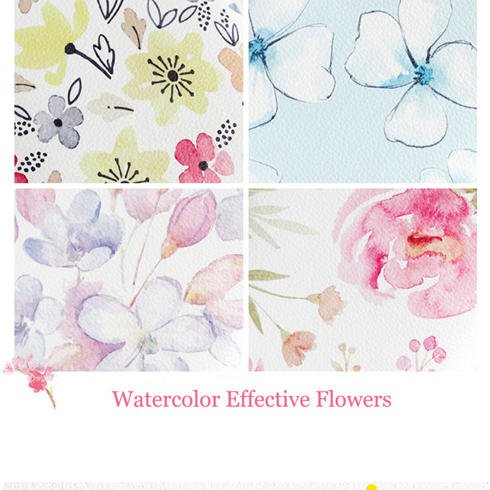 Kawaii Flower Leather Notebook A5 A6 Spiral Notebook Stationery Personal Diary Binder Weekly Planner A5 Agenda WJ-XXWJ367- excellent good qualitly a5 a6 ring binder planner personal diary notebook gifts
