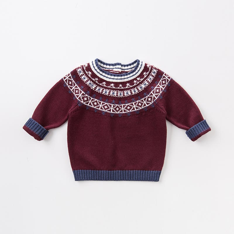 ac7da8eeade4 DB5622 dave bella autumn infant baby boys wine cotton pullover ...