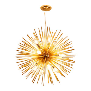 Image 2 - Nordic Artistic LED Aluminum Dandelion Chandelier Golden Hanging Lamps Decorative Fixture Lighting Led Home Lights