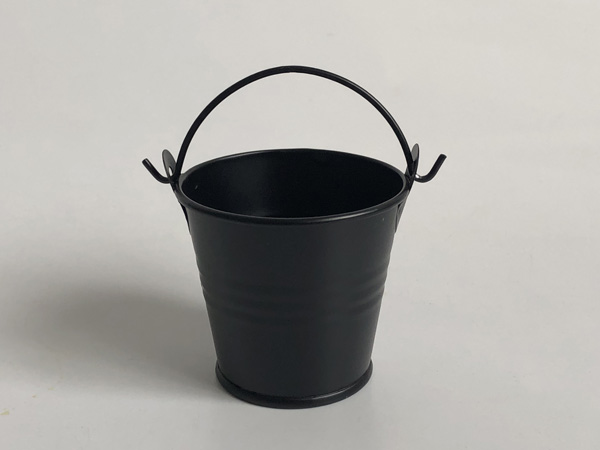D5.5xH5CM 100Pcs/Lot Metal Succulents pots /Cute Black Candy box /Iron Buckets/ Nursery Pots/tin pails-in Flower Pots & Planters from Home & Garden