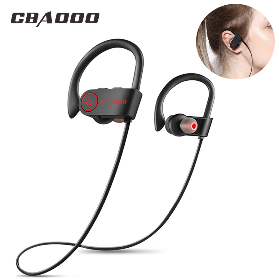цена на CBAOOO K8 Bluetooth Earphone Sport Wireless Bluetooth Headphone Bass Blutooth Earpiece Stereo IPX4 Sweatproof with mic for phone