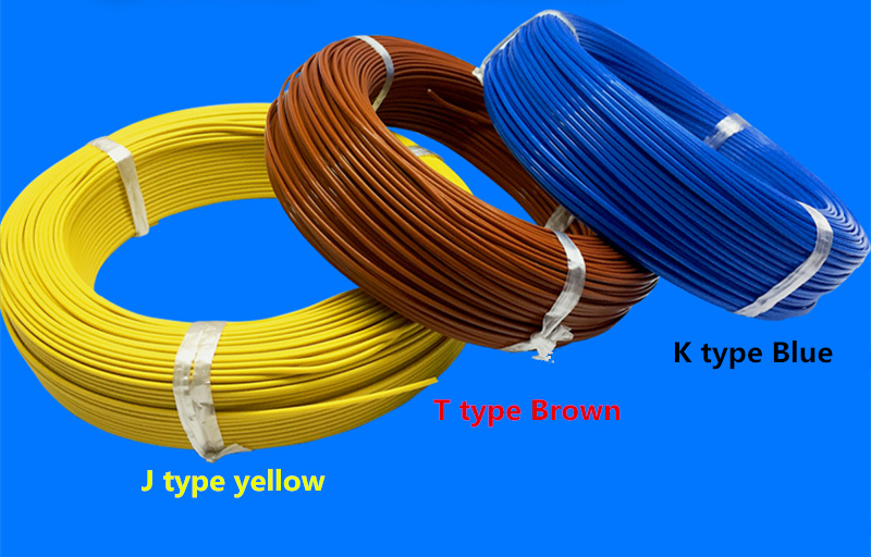 100m THERMO COUPLE WIRE K Type T Type J Type 2*0.3mm 2*0.5mm Thermocouple Teflon thermal line compensating lead wire Sensor-in Sensors from Electronic Components & Supplies    1