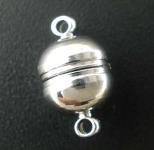 DoreenBeads 10Pairs Silver Tone Round Magnetic Clasps 13x8mm