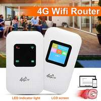 3G/4G Mobile Wireless Wifi Router Modem M100 2100mAh Charger 150Mbps Hotspot SIM TF Card Slot Multifunction