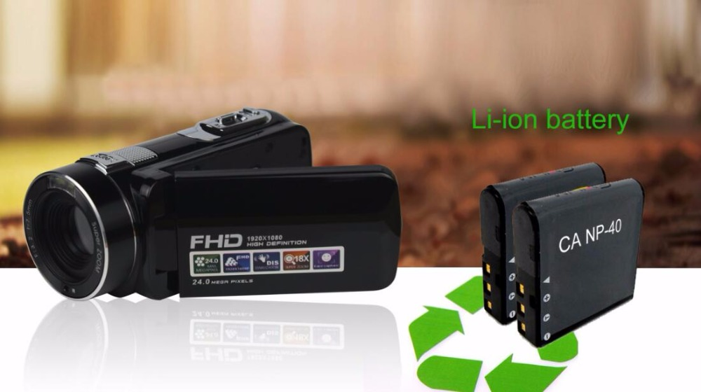 """FHD 1080P Digital Video Camera fotografica Camcorder MP 3"""" Screen External Battery Support SD Card with HDMI Output filmadora 12"""