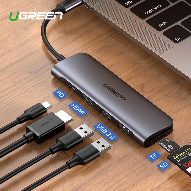 Ugreen USB C HUB Typ C zu Multi USB 3.0 HUB HDMI Adapter Dock für MacBook Pro Huawei P30/P20 USB-C 3,1 Splitter 3 Port USB HUB