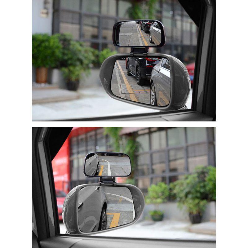1 par de Coche Espejo punto ciego Gran Angular Espejo Convexo Retrovisor de rotación de 360