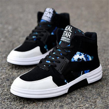 ELGEER 2018 new winter mens casual student Sneakers shoes fashion camouflage high-top movement