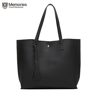 Image 1 - Women Handbag Messenger Shoulder Bags Big Leather Bag Female Black Handbag Lady Tote Crossbody Bag Popular Ladies Hand BagsGift
