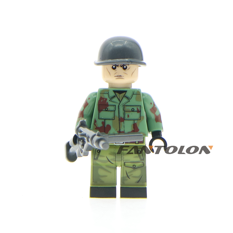 10pcs/lot WW2 Russian America Italy German Polish military army soldiers building blocks figures children toys gift