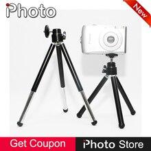 Qualidade De Alumínio De Liga de Metal Mini Suporte De Mesa Tripé para Canon Nikon Sony Panasonic Olympus Digital SLR DSLR Camera DV Camcorder