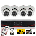 Sunchan HD 4CH 720 P AHD-M sistema de segurança DVR 1 TB HDD 4x 1200TVL 1.0MP AHD CCTV Camera Night Vision IR Dome de vigilância em casa kit cftv cftv full hd  camara de vigilancia