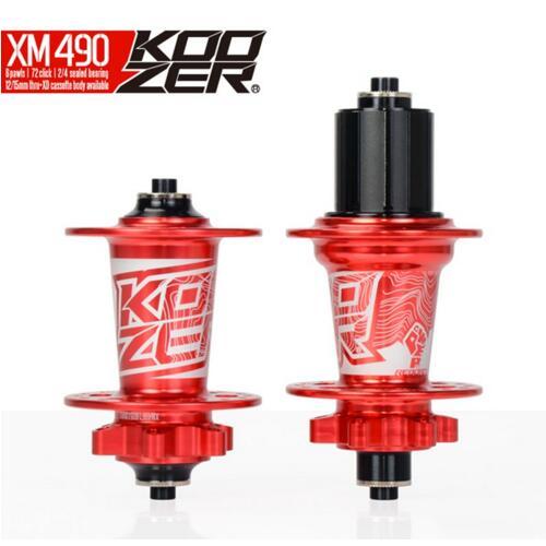 Koozer XM49028H/32 H/36 H vtt vélo roue frein à disque 10*135mm 12*142mm roue QR à travers la roue de roulement scellée
