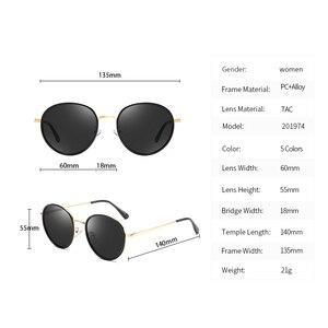 Image 5 - Fashion Round Polarized Sunglasses Women Vintage Elegant Driving Eyewear Metal Frame Female Oculos De Sol UV400