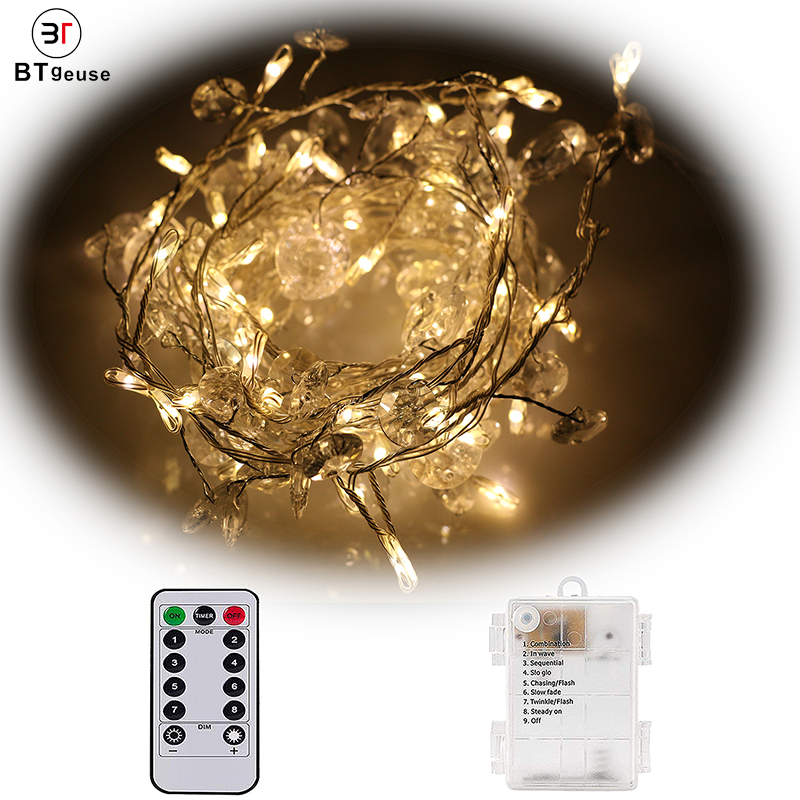 BTgeuse 80 LED Cluster Fairy Lights Firecrackers Starry String Garland Battery Operated Waterproof Christmas Holiday Decoration