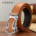 IFENDEI Men's Belts Strap Male Genuine Leather Belts Men High Quality Automatic Buckle Youth Fashion Wild Waist For Male Jeans