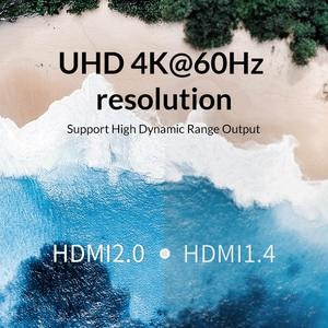 Image 4 - Unnlink HDMI ספליטר 1X2 1X4 HDMI2.0 UHD4K @ 60H 18 5gbps 444 HDCP 2.2 HDR 1 ב 2 4 מתוך עבור LED טלוויזיה MI תיבת מתג PS4 xBox מקרן