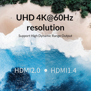 Image 4 - Unnlink HDMI Splitter 1X2 1X4 HDMI2.0 UHD4K@60H 18Gbps 444 HDCP 2.2 HDR 1 In 2 4 Out for LED TV MI Box Switch PS4 xBox Projector