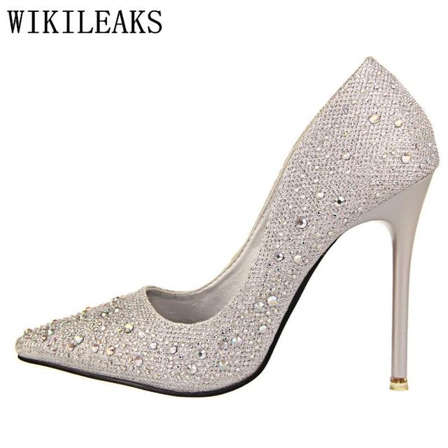 42bdccdb96c Bridal Shoes Women Pumps Rhinestone Bigtree shoes Wedding Shoes Designer  Luxury Brand Ladies Red Extreme High
