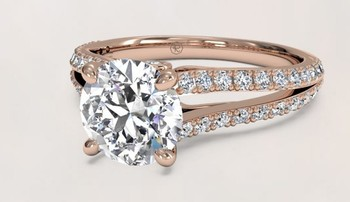 JH L&A Classic 0.29ct H/SI1 Diamond Engagement ring 18K White Gold Rose Gold Love Forever Solid Fine Jewelry 3